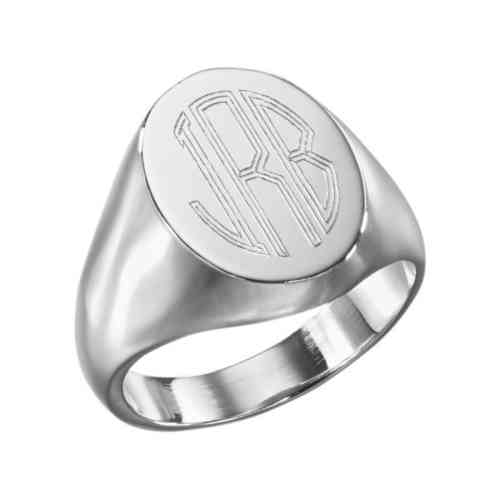 Ring Large Signet (L81) - Für Ihn in Sterling Silver